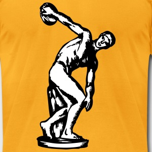 Discus thrower t-shirt - Men's T-Shirt by American Apparel