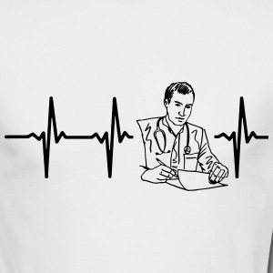 MY HEART BEATS FOR A DOCTOR! Long Sleeve Shirts - Men's Long Sleeve T-Shirt by Next Level