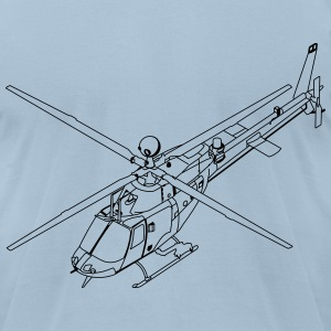 Helicopter t-shirt - Men's T-Shirt by American Apparel
