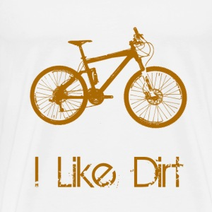 Mountain Bike Dirt - Men's Premium T-Shirt