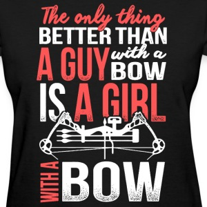 A Girl With A Bow - Women's T-Shirt