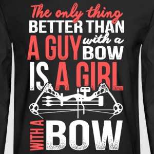 A Girl With A Bow - Men's Long Sleeve T-Shirt