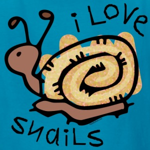 I Love Snails Kids' Shirts - Kids' T-Shirt