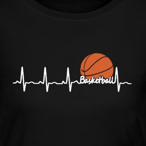 Basketball Heartbeat - Women's Long Sleeve Jersey T-Shirt