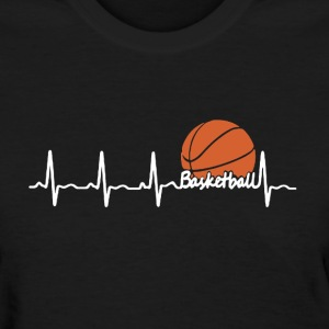 Basketball Heartbeat - Women's T-Shirt