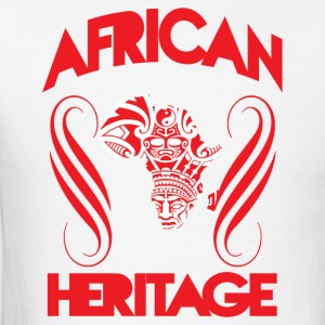 African Heritage with African Map T-Shirt - Men's T-Shirt