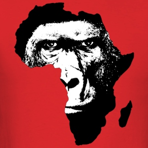 Africa Map With Baboon - Men's T-Shirt