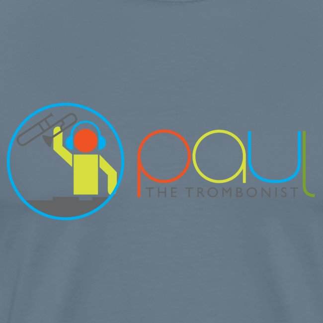 Paul The Trombonist Logo Blended with shirt color