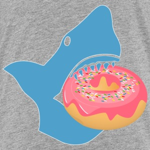 Shark eating a donut Baby & Toddler Shirts - Toddler Premium T-Shirt