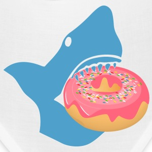 Shark eating a donut Caps - Bandana