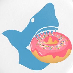 Shark eating a donut Buttons - Large Buttons