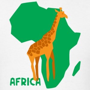 Africa Map With Giraffe T-Shirt - Men's T-Shirt