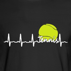 Tennis Heartbeat Shirt - Men's Long Sleeve T-Shirt