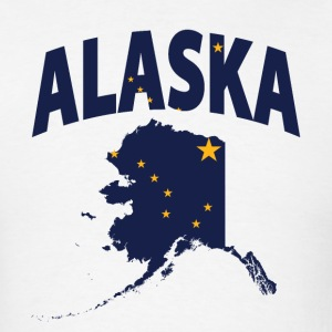 Alaska Flag Map USA T-Shirt - Men's T-Shirt