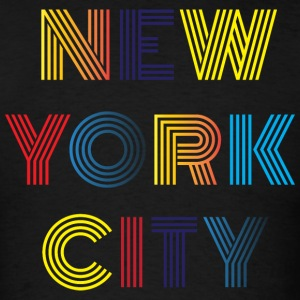 New York Neon Typographical T-Shirt - Men's T-Shirt