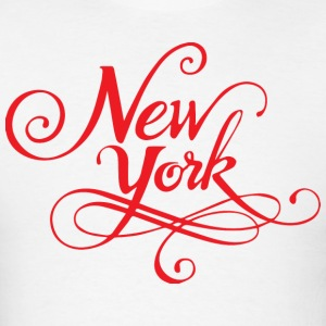 New York Typographical T-Shirt - Men's T-Shirt