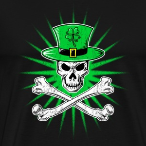 Irish Skull Crossbone - Men's Premium T-Shirt