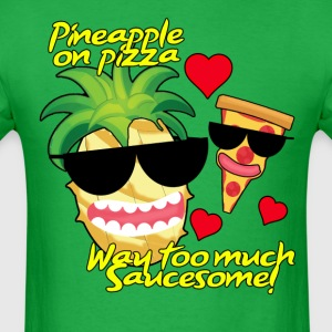 Pizza and Pineapple BFFs. Men's shirt - Men's T-Shirt