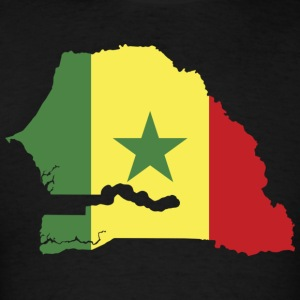 Senegal Flag in Senegal Map T-Shirt - Men's T-Shirt
