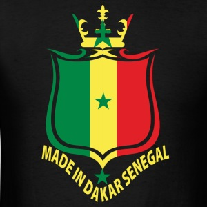 Made In Dakar Senegal Flag T-Shirt - Men's T-Shirt