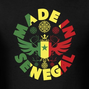 Made In Senegal With Senegal Flag T-Shirt - Men's T-Shirt