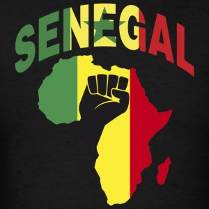 Senegal Africa Map Black Power T-Shirt - Men's T-Shirt