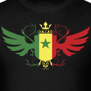 Senegal Flag In Shield T-Shirt - Men's T-Shirt