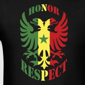 Honor Respect Senegal Flag T-Shirt - Men's T-Shirt