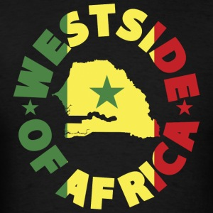 Senegal Westside of Africa Senegal Flag T-Shirt - Men's T-Shirt