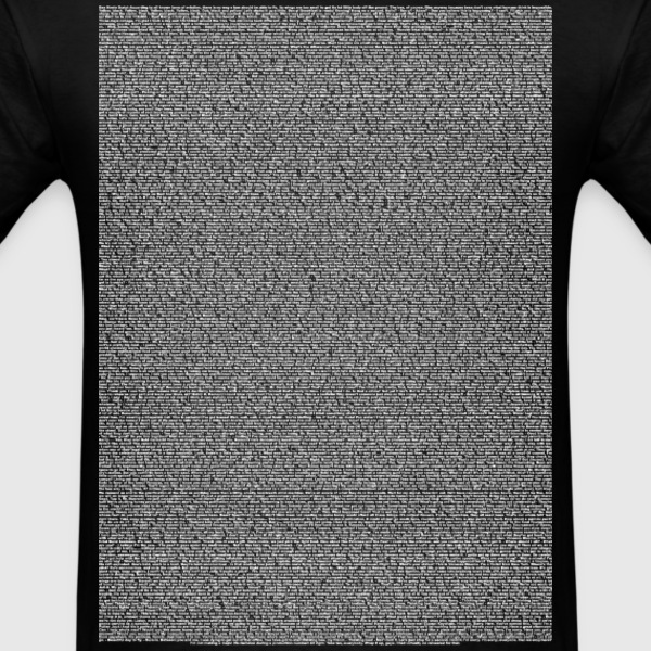 Bee a Movie script body Text for Dark shirt - Men's T-Shirt