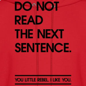 Read the next Sentence Hoodies - Men's Hoodie