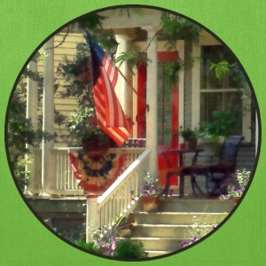 House With Bunting and American Flag Bags & backpacks - Tote Bag