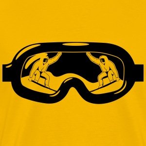 Winter holidays snowboard goggles T-Shirts - Men's Premium T-Shirt