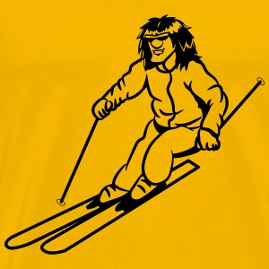 Winter holiday ski sport T-Shirts - Men's Premium T-Shirt