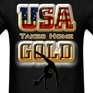 USA Taking Home GOLD Gymnastics Mens T-Shirt - Men's T-Shirt