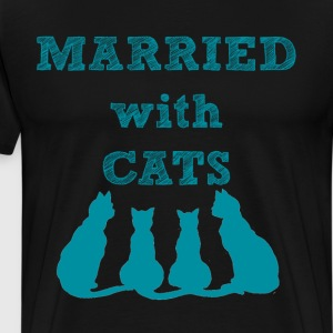 Married With Cats - Men's Premium T-Shirt