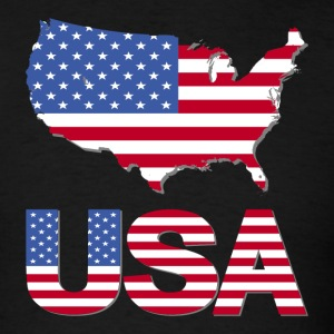 USA Flag In US Map T-Shirt - Men's T-Shirt