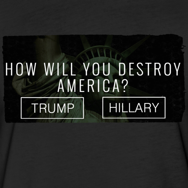How will you destroy America?  Men's Fitted Cotton / Poly Tee  - [America Is Fucked™]