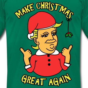 A Donald Trump Christmas T-Shirts - Men's T-Shirt by American Apparel