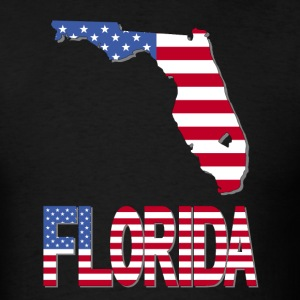 Florida Map With USA Flag Clipped Inside T-Shirt - Men's T-Shirt