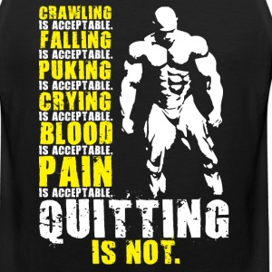 Quitting Is Not Acceptable (Mr Olympia) Sportswear - Men's Premium Tank