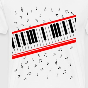 Beat It Piano Keyboard - Men's Premium T-Shirt