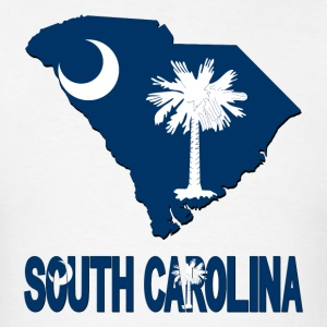 South Carolina Flag Map USA T-Shirt - Men's T-Shirt