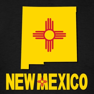 New Mexico Map With Flag USA T-Shirt - Men's T-Shirt