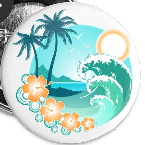 Hawaiian Island 1 - Large Buttons
