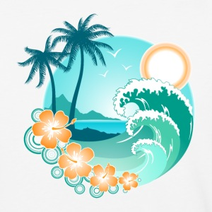 Hawaiian Island 1 - Baseball T-Shirt