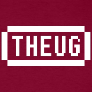 The Urban Geek White and Burgundy - Men's T-Shirt