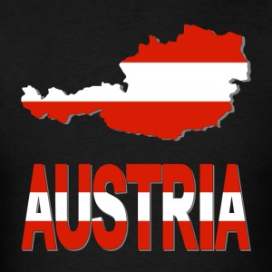 Austria Map Wiith Flag T-Shirt - Men's T-Shirt
