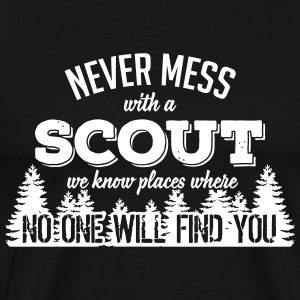 never mess with a scout T-Shirts - Men's Premium T-Shirt