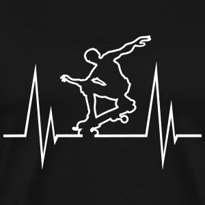 Skateboard Hearbeat - Men's Premium T-Shirt